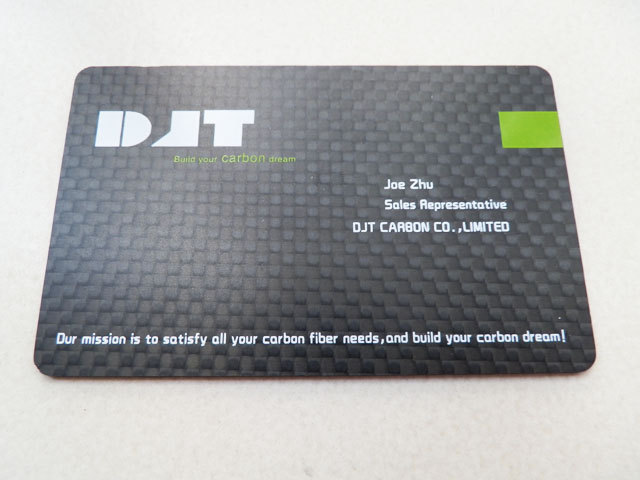 Elegant Carbon Fiber Business Cards
